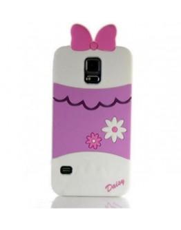 "Carcasa protectie spate ""Daisy"" din silicon pentru Samsung Galaxy S5"